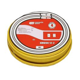 20M Yellow 12/2 NMD-90 Solid Copper Wire thumb
