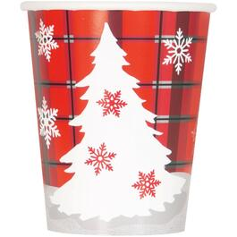8 Pack 9oz Rustic Plaid Paper Cups thumb