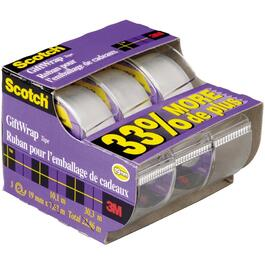 3 Pack 19mm x 10M Satin Tape in Dispenser thumb