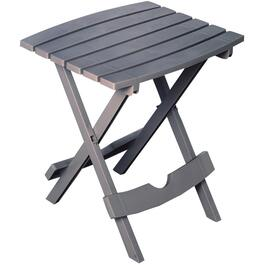"15"" x 17"" Sharkskin Grey Resin Folding Side Table thumb"