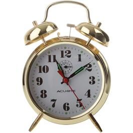 2-Bell Brass Alarm Clock thumb