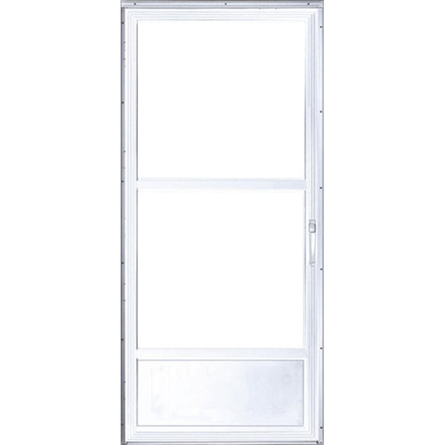 32 X 80 Classic 2 Lite White Aluminum Storm Door Home Hardware