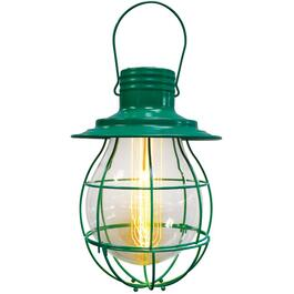 "10"" Green Hanging Battery Operated Retro Pendant Light thumb"