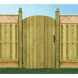 5' Spruce Concave Privacy Gate Fence Package thumb