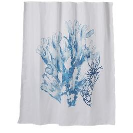 "72"" x 72"" Deep Teal Coral Polyester Shower Curtain thumb"