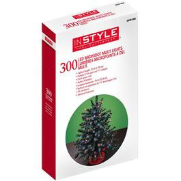 300 LED Multi Colour Dot Light Set, with Green Wire thumb