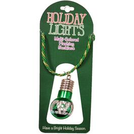 Flashing Light Up Christmas Ornament Necklace thumb