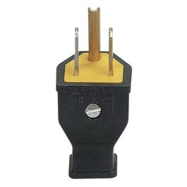 3 Wire 15 Amp 125V Black Electrical Plug thumb