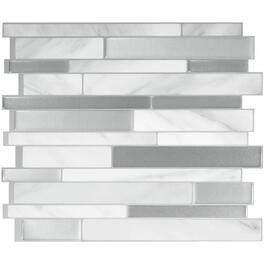 "6 Pack 11.55"" x 9.65"" Peel and Stick Milano Carrera Tiles thumb"