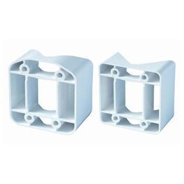 2 Pack Yardcrafters 45 Degree White Vinyl Railing Adapters thumb