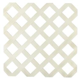 4' x 8' Almond Classic Ultra Light Vinyl Lattice thumb