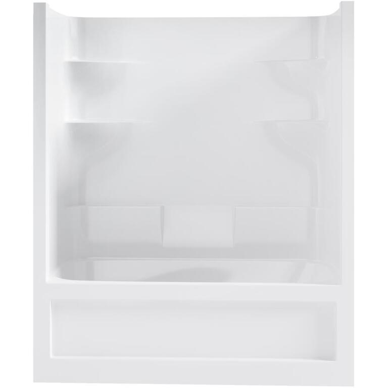 MIROLIN:4 Piece White Acrylic Left Hand Tub and Shower