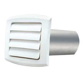 "5"" Louvered White Vent Hood, with Tailpiece thumb"