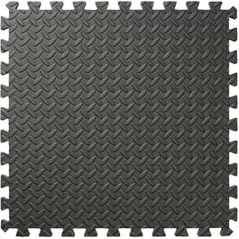 "4 Piece 24"" x 24"" Grey EVA Foam Interlocking Mat thumb"