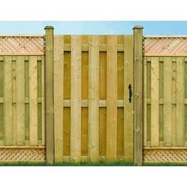 6' Pressure Treated Board On Board Gate Fence Package thumb