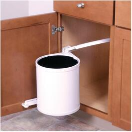 13 Quart White Waste Bin thumb