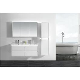 "Modo Alex 48"" White 4 Drawer Vanity with Ceramic Top thumb"