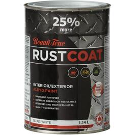 1.14L Bonus Can of White Gloss Alkyd Rust Paint thumb