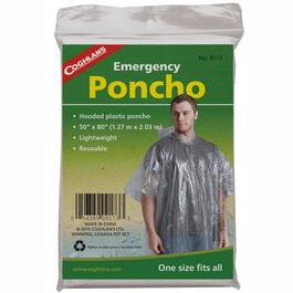 Unisex One Size Clear Emergency Rain Poncho thumb