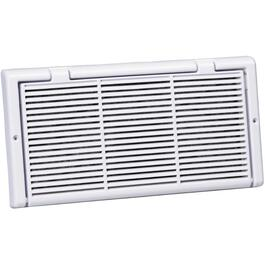 "6"" x 14"" White Poly Baseboard Grille, with Filter thumb"