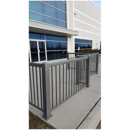 "14 Pack 3/4"" x 42"" Titanium Slate Aluminum Straight Railing Pickets, for 6' section thumb"