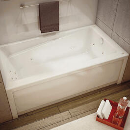 "60"" x 32"" Right Hand Whirlpool Bath Tub, with Skirt thumb"