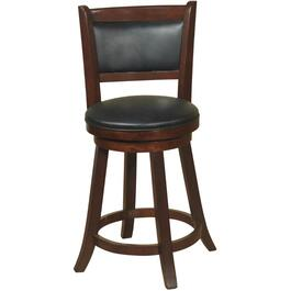 "24"" Espresso Dupont Swivel Stool thumb"