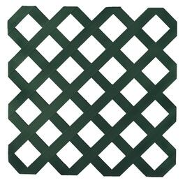 4' x 8' Dark Green Classic Ultra Light Vinyl Lattice thumb