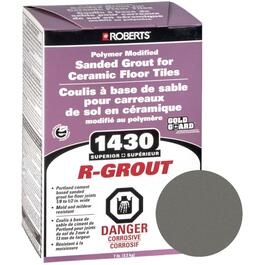 7lb Charcoal Grey Sanded Floor Grout thumb