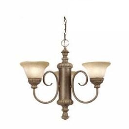 3 Light Gold Chandelier Light Fixture thumb