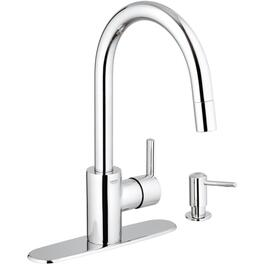 Feel 1,2,3 or 4 Hole Chrome Pull Out Faucet Deck with Soap Dispenser thumb