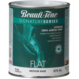 870mL Flat Medium Base Exterior Latex Paint thumb