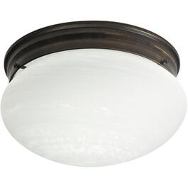 "10"" Oil Rubbed Bronze Mushroom Flush Light Fixture thumb"
