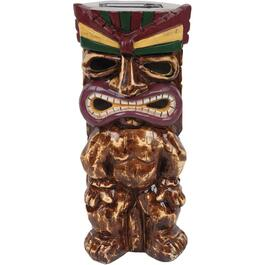 "12"" Solar Tiki Man Garden Statue, in Assorted Colours thumb"