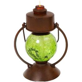 "11.25"" Metal Hurricane Lantern, with Battery Operated Flame and Water Vapor Effect, Assorted Colours thumb"