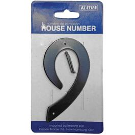 "3.5"" Aluminum Nail-On '9' House Number thumb"