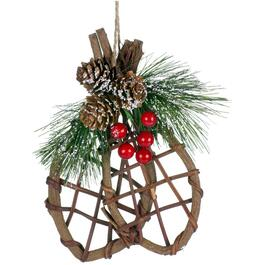"6.25"" Wood Snowshoes Ornament thumb"