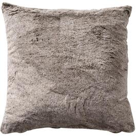 "18"" Taupe Fur Pillow Cover thumb"