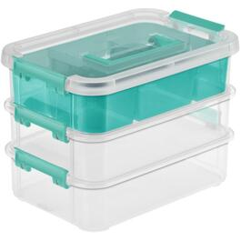 3 Layer Stack and Carry Storage Box, with Handle thumb