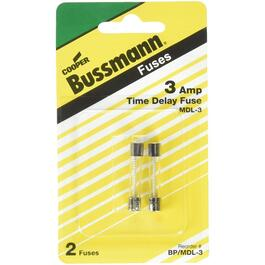 2 Pack 3 Amp 250 Volt Time Delay Glass Fuse thumb