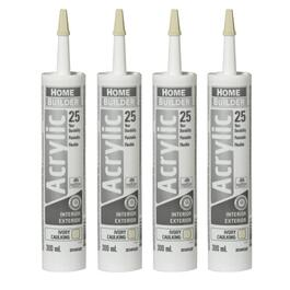 4 Pack 300mL Ivory 25 Year All Purpose Acrylic Caulking thumb
