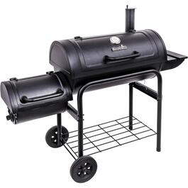 605 sq. in. Charcoal Offset Smoker, with Cart thumb
