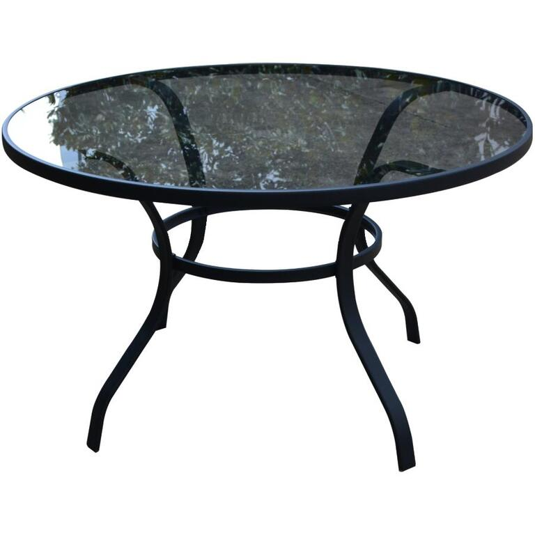"INSTYLE OUTDOOR:48"" Round Santorini Glass Dining Table"