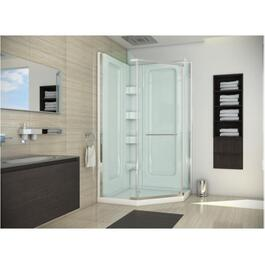 "38"" Clear/Silver Acrylic Angle Shower Cabinet thumb"
