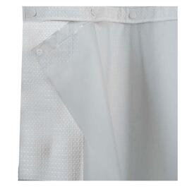 71 X 74White Snap On Full Liner For Hookless Shower Curtain