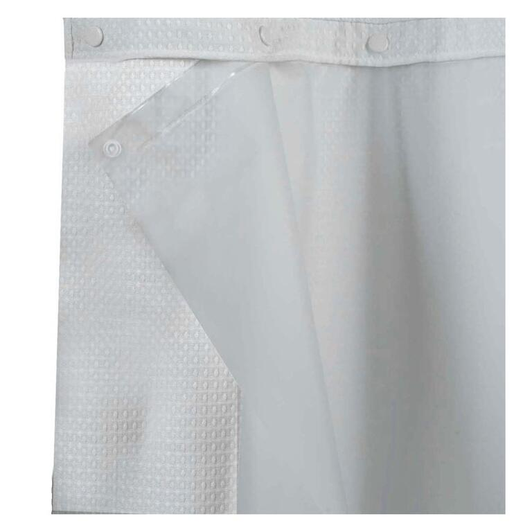 71 X 74 Full Frost Snap On Liner For Hookless Shower Curtain
