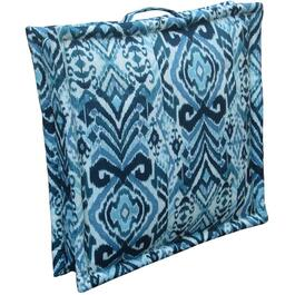 Blue Floor Square Cushion with Handle thumb