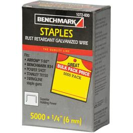 "5000 Pack 1/4"" Staples, for T50 Stapler thumb"