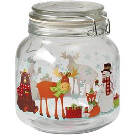 1L Woodland Friends Storage Jar, with Clamp Lid thumb