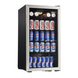 3.3 cu.ft. Black Mini Fridge, with Glass Door thumb